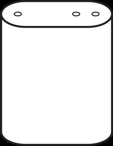 Vertical Obround Lube Tank